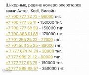 Номера операторов связи